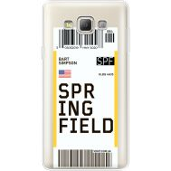 Силиконовый чехол BoxFace Samsung A700 Galaxy A7 Ticket Springfield (35961-cc93)