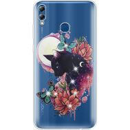 Силиконовый чехол BoxFace Huawei Honor 8x Max Cat in Flowers (935632-rs10)