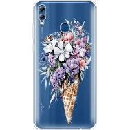 Силиконовый чехол BoxFace Huawei Honor 8x Max Ice Cream Flowers (935632-rs17)