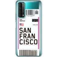 Силиконовый чехол BoxFace Huawei P Smart 2021 Ticket San Francisco (41134-cc79)
