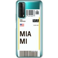 Силиконовый чехол BoxFace Huawei P Smart 2021 Ticket Miami (41134-cc81)