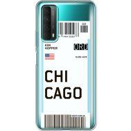 Силиконовый чехол BoxFace Huawei P Smart 2021 Ticket Chicago (41134-cc82)