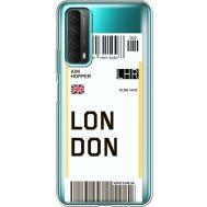 Силиконовый чехол BoxFace Huawei P Smart 2021 Ticket London (41134-cc83)