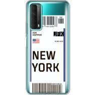 Силиконовый чехол BoxFace Huawei P Smart 2021 Ticket New York (41134-cc84)