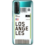 Силиконовый чехол BoxFace Huawei P Smart 2021 Ticket Los Angeles (41134-cc85)