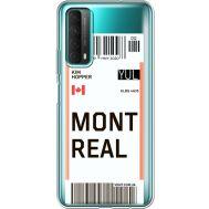Силиконовый чехол BoxFace Huawei P Smart 2021 Ticket Monreal (41134-cc87)