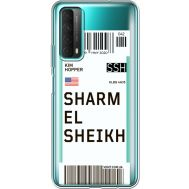 Силиконовый чехол BoxFace Huawei P Smart 2021 Ticket Sharmel Sheikh (41134-cc90)