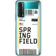 Силиконовый чехол BoxFace Huawei P Smart 2021 Ticket Springfield (41134-cc93)