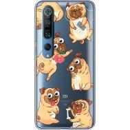Силиконовый чехол BoxFace Xiaomi Mi 10 Pro с 3D-глазками Pug (39442-cc77)