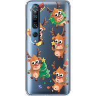 Силиконовый чехол BoxFace Xiaomi Mi 10 Pro с 3D-глазками Reindeer (39442-cc74)