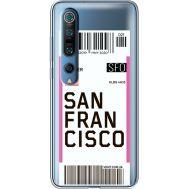 Силиконовый чехол BoxFace Xiaomi Mi 10 Pro Ticket San Francisco (39442-cc79)