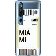 Силиконовый чехол BoxFace Xiaomi Mi 10 Pro Ticket Miami (39442-cc81)