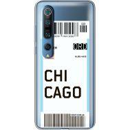 Силиконовый чехол BoxFace Xiaomi Mi 10 Pro Ticket Chicago (39442-cc82)