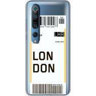 Силиконовый чехол BoxFace Xiaomi Mi 10 Pro Ticket London (39442-cc83)