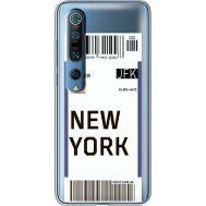 Силиконовый чехол BoxFace Xiaomi Mi 10 Pro Ticket New York (39442-cc84)