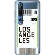 Силиконовый чехол BoxFace Xiaomi Mi 10 Pro Ticket Los Angeles (39442-cc85)