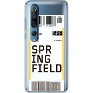 Силиконовый чехол BoxFace Xiaomi Mi 10 Pro Ticket Springfield (39442-cc93)