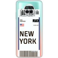 Силиконовый чехол BoxFace Xiaomi Mi 10T Lite Ticket New York (41070-cc84)