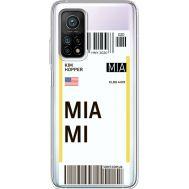 Силиконовый чехол BoxFace Xiaomi Mi 10T/ Mi 10T Pro Ticket Miami (41081-cc81)