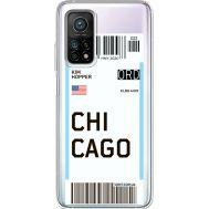 Силиконовый чехол BoxFace Xiaomi Mi 10T/ Mi 10T Pro Ticket Chicago (41081-cc82)