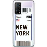 Силиконовый чехол BoxFace Xiaomi Mi 10T/ Mi 10T Pro Ticket New York (41081-cc84)