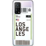 Силиконовый чехол BoxFace Xiaomi Mi 10T/ Mi 10T Pro Ticket Los Angeles (41081-cc85)