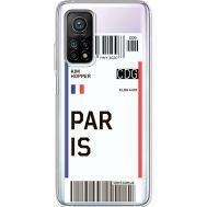 Силиконовый чехол BoxFace Xiaomi Mi 10T/ Mi 10T Pro Ticket Paris (41081-cc86)