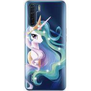 Силиконовый чехол BoxFace OPPO A91 Unicorn Queen (941577-rs3)