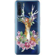 Силиконовый чехол BoxFace OPPO A91 Deer with flowers (941577-rs5)