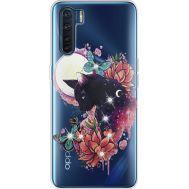 Силиконовый чехол BoxFace OPPO A91 Cat in Flowers (941577-rs10)