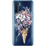 Силиконовый чехол BoxFace OPPO A91 Ice Cream Flowers (941577-rs17)