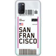 Силиконовый чехол BoxFace OPPO A52 Ticket  San Francisco (41582-cc79)