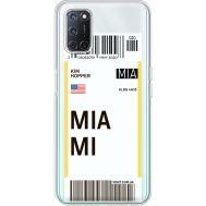 Силиконовый чехол BoxFace OPPO A52 Ticket Miami (41582-cc81)
