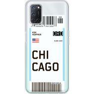 Силиконовый чехол BoxFace OPPO A52 Ticket Chicago (41582-cc82)