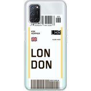 Силиконовый чехол BoxFace OPPO A52 Ticket London (41582-cc83)