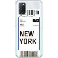 Силиконовый чехол BoxFace OPPO A52 Ticket New York (41582-cc84)