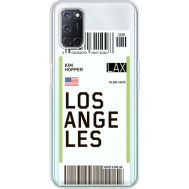 Силиконовый чехол BoxFace OPPO A52 Ticket Los Angeles (41582-cc85)