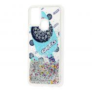 Чехол для Samsung Galaxy M31 (M315) Блестки вода new oreo