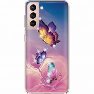 Силиконовый чехол BoxFace Samsung G991 Galaxy S21 Butterflies (941710-rs19)