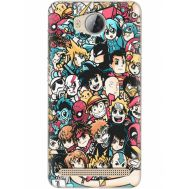 Силиконовый чехол BoxFace Huawei Ascend Y3 2 Anime Stickers (28882-up2458)