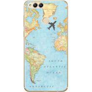 Силиконовый чехол BoxFace Huawei Honor 7x Карта (32670-up2434)