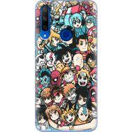 Силиконовый чехол BoxFace Huawei Honor 9X Anime Stickers (37996-up2458)