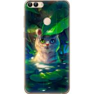 Силиконовый чехол BoxFace Huawei P Smart White Tiger Cub (32669-up2452)