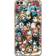 Силиконовый чехол BoxFace Huawei P Smart Anime Stickers (32669-up2458)