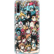 Силиконовый чехол BoxFace Huawei P Smart Pro Anime Stickers (38612-up2458)