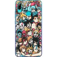 Силиконовый чехол BoxFace Huawei P Smart 2019 Anime Stickers (35788-up2458)