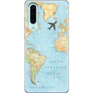 Силиконовый чехол BoxFace Huawei P30 Карта (36851-up2434)