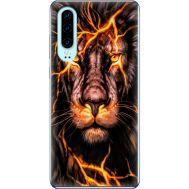 Силиконовый чехол BoxFace Huawei P30 Fire Lion (36851-up2437)