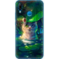 Силиконовый чехол BoxFace Huawei P20 Lite White Tiger Cub (33127-up2452)