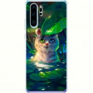 Силиконовый чехол BoxFace Huawei P30 Pro White Tiger Cub (36855-up2452)